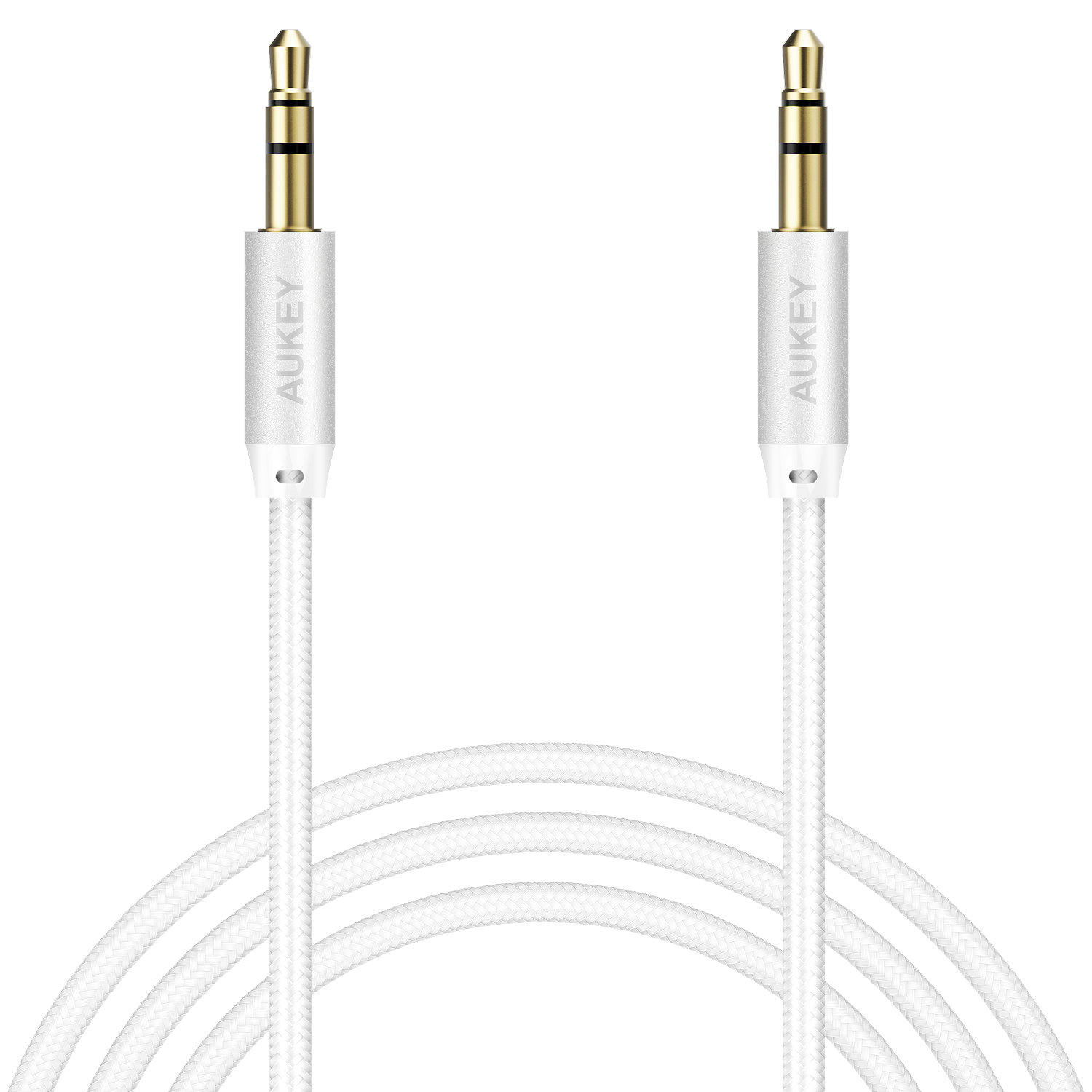 CB-V12 CABLE 1.2M AUX AUDIO GOLD PLATE BRAIDED NYLON