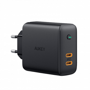 PA-D2 Dual-Port 36W PD Wall Charger with Dynamic Detect