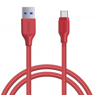CB-AC1 1.2M USB 3.0 to USB C Cable Braided Red