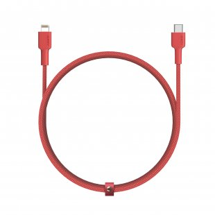 CB-CL1  MFi USB-C To Lightning Cable Braided Nylon 1.2m Red -  500384