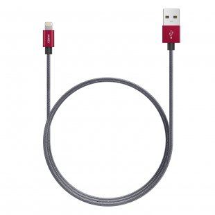 CB-D24 CABLE 1M LIGHTNING MFI APPLE GREY/RED