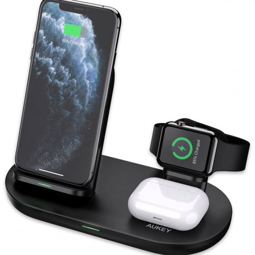 500594 - Wireless Charger Station Aukey LC-A3 3-in-1 - 500594