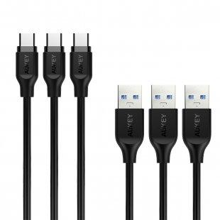 CB-CMD3 Cable 1M USB A to USB C 3.0 PVC (3pcs)