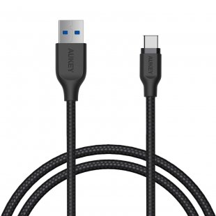 CB-AC1 Braided Nylon USB 3.1 Gen 1 to USB C Cable