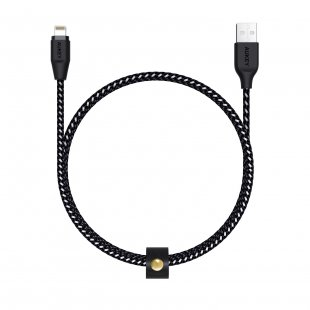 CB-AL1 Cable 1.2M Lightning Braided MFI Apple Black
