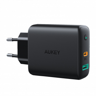 PA-D1 Dual-Port 30W PD Wall Charger with Dynamic Detect