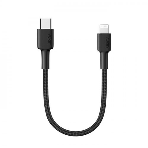 500707 - Kabel iPhone Aukey CB-CL12 USB C to Ligthning Portable 18cm - 500707