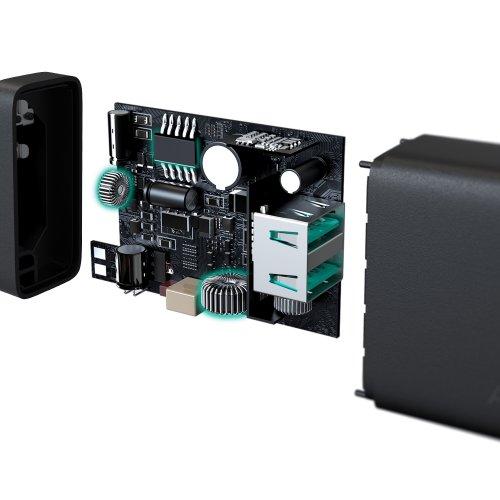 500348 - PA-U50 Dual-Port USB Wall Charger with GaN Power Tech