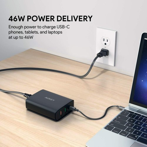 500303 - PA-Y13 Charger 3 Ports 74.5W USB PD 3.0 QC 3.0 & AiQ