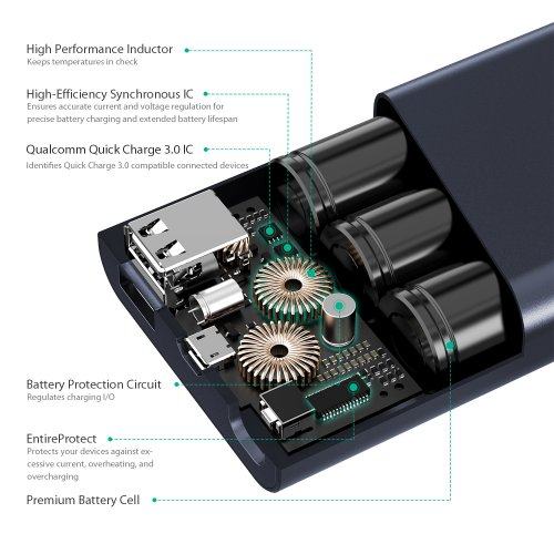 500159 - PB-AT10 Powerbank 10050 mAh QC 3.0 & AiQ
