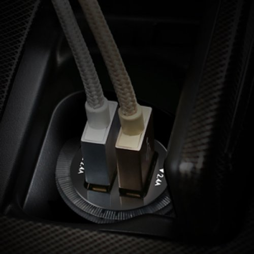 500165 - CC-S1 Car Charger 2 Ports 24W AiQ