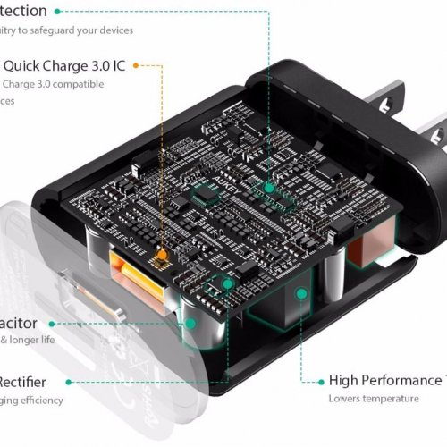 500294 - PA-T16 Charger 2 Ports 36W QC 3.0